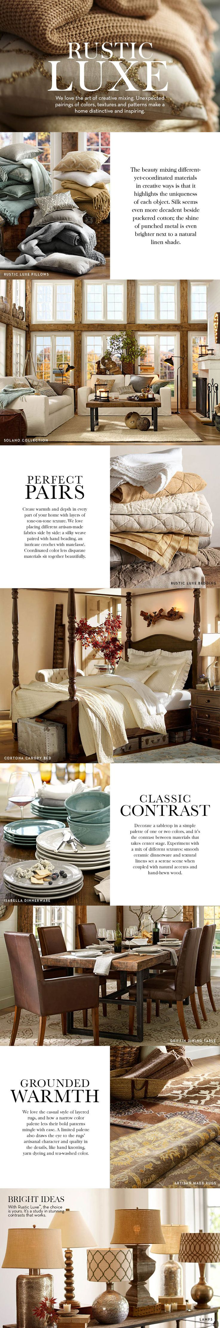 Kind of like your future living room! Rustic Luxe   Pottery Barn