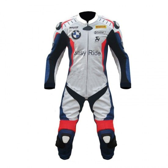 Marco Melandri BMW One Piece Motorbike Racing Leather Suit
