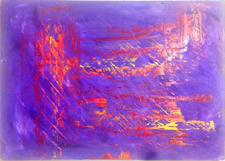 Eser Adı Tokyo Eser Hakkında Mor arka fondaki buğulu ruh halinin üzerine çekilen sarı ve kırmızı renklerin keskin tonları sanatçıda soyut tarzın kalıcı bir örneği olarak kalmaktadır. Desenin hatları ise resmi domine etmiştir.     Ölçüleri : 50 X 70 cm Malzeme : Tuval üzeri Yağlı Boya