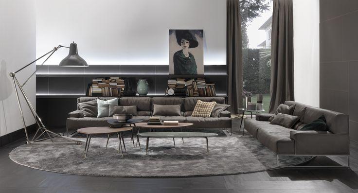 The Cloud #sofa and the Smart #tables #frigeriosalotti #design #interior #furniture