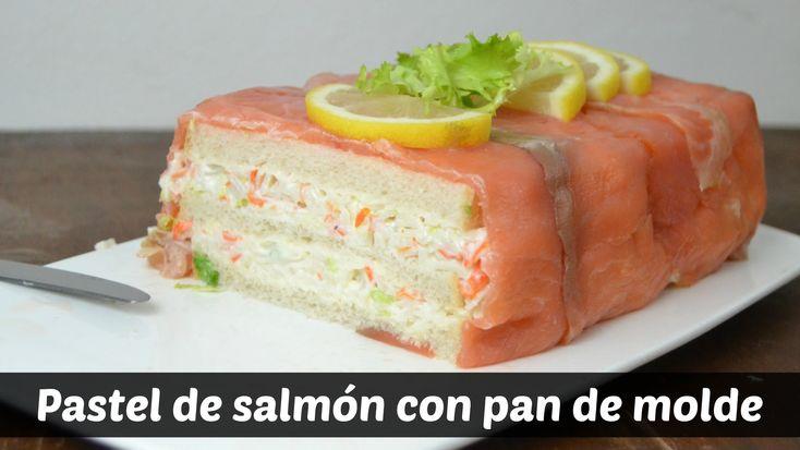 Pastel de salmón con pan de molde. Receta fácil para Navidad