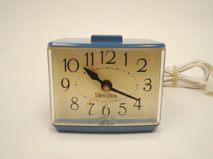 Vintage Westclox Rare Blue Drowse Dialite Electric Alarm Clock Retro MCM 3192 http://stores.ebay.com/pricelessfinds/Vintage-Collectible-/_i.html?_fsub=10901744017