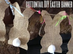 Burlap Easter Banner DIY