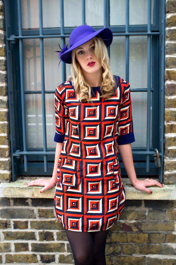 Cute 60s inspired shift dress