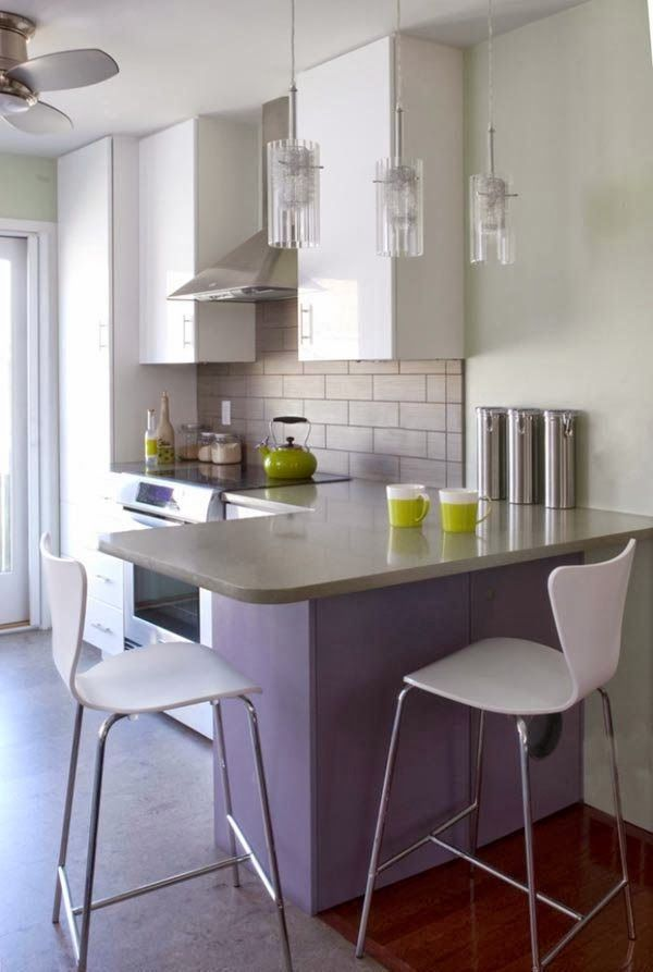 Love the large cabinet (for pantry) and smaller, recessed cabinets by stove.