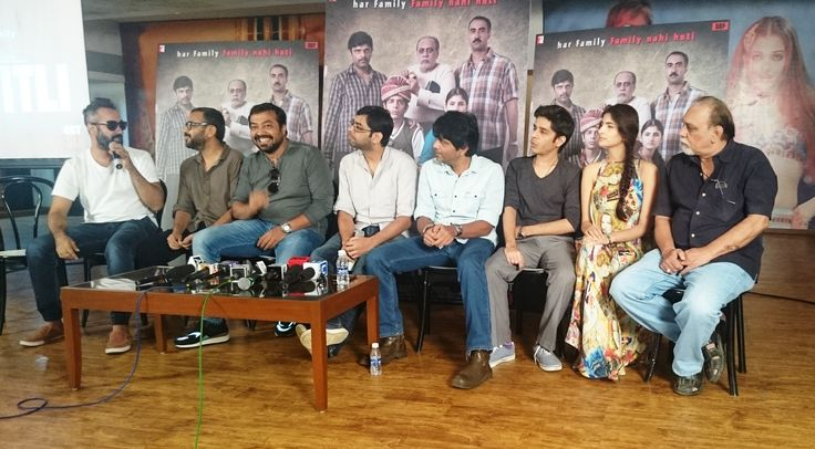 Ranvir Shorey, Dibakar Banerjee, Anurag Kashyap, Amit Sial, Shashank Arora, Shivani Raghuvanshi and Lalit Behl at Titli Press Meet, presented by YRF, produced by Dibakar Banerjee and directed by Kanu Behl.