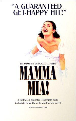 Mamma Mia! the Musical Broadway Poster