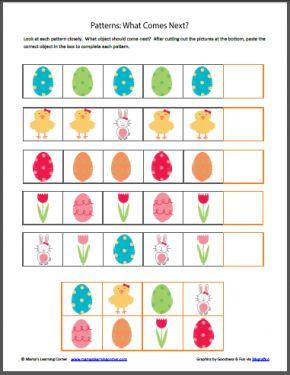Easter Worksheet Packet, printable
