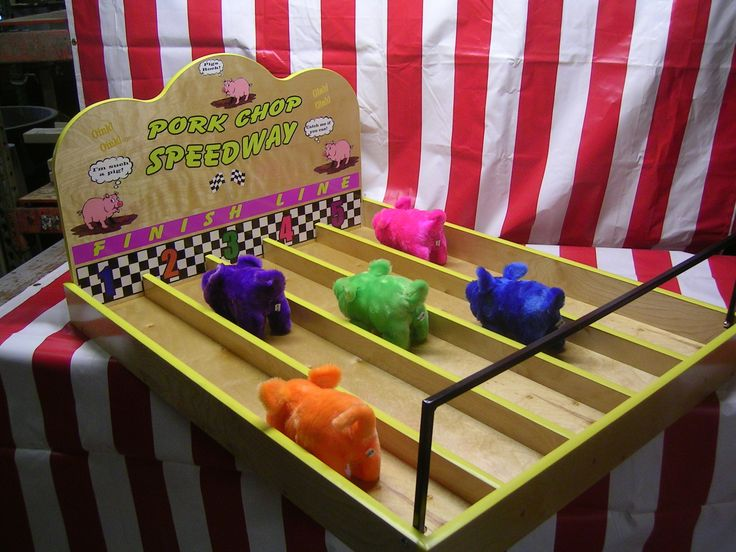 Pig Race game - make your own, one of the most popular games at a fair