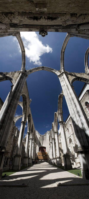 Ruins of Carmo, Lisbon, PORTUGAL
