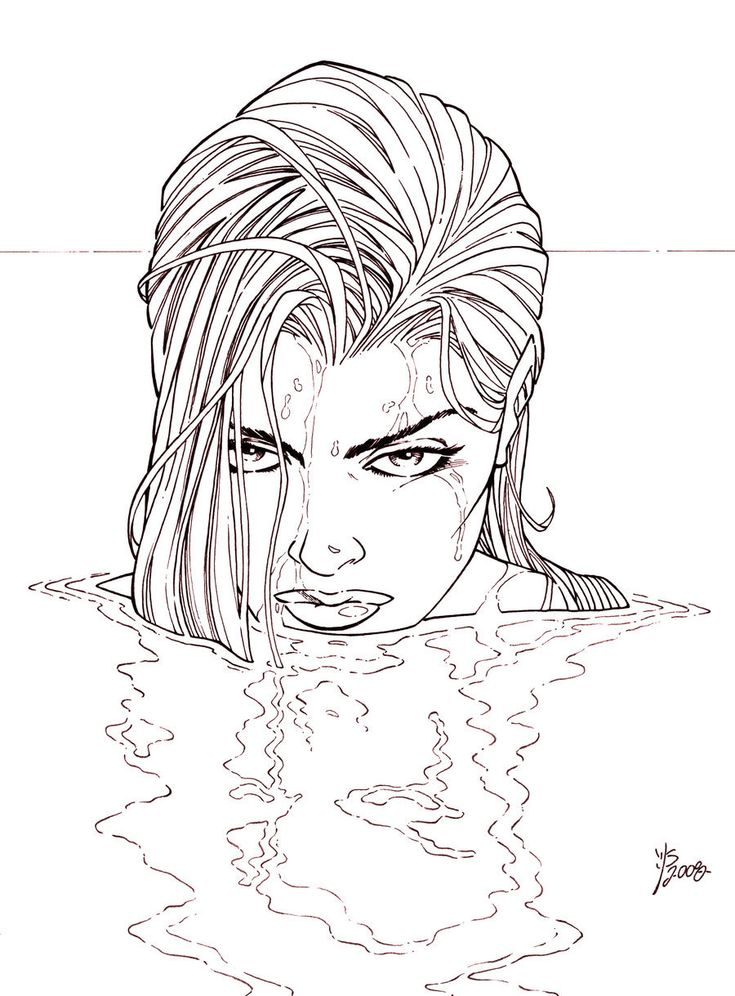 hot ladies coloring pages - photo#6