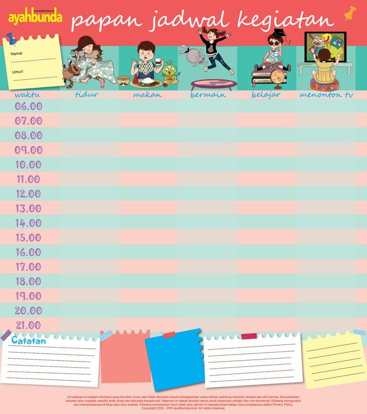 Ayo, catat jadwal balita di sini. Jurnal ini baik untuk melatih kedisiplinannya.  :: Children Journal :: Activity Journal :: Children Activity Journal ::