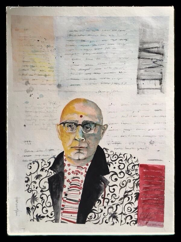 Adorno. T.W.L. Acquarello + gesso su carta Khadi 56x76
