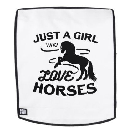 Ride Horse Lovers Gifts Riding Who Loves Horses Backpack - love gifts cyo personalize diy
