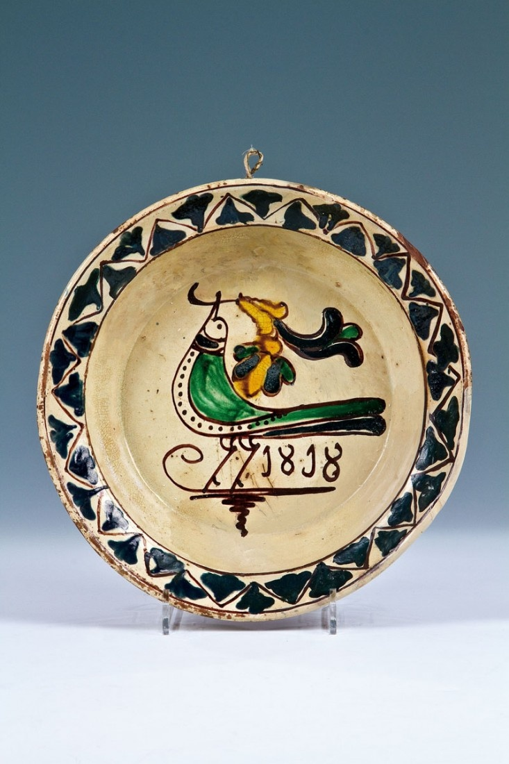 Plate from Beszterce (Bistritz, Bistrița), Kingdom of Hungary / Transylvania, 1818.    © 2013 Auktionshaus Dr. Jürgen Fischer GmbH & Co. KG, Heilbronn