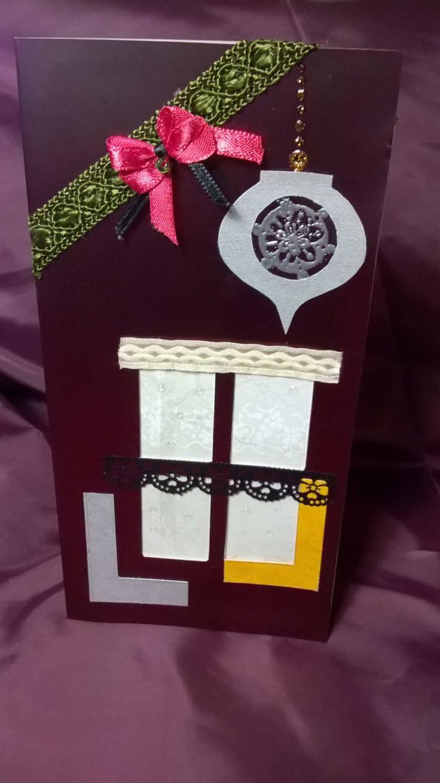 Postal Navidad, hecha a mano, sobre incluido 110x220 mm, Scrapbooking, OOAK de EspacioCanalla en Etsy