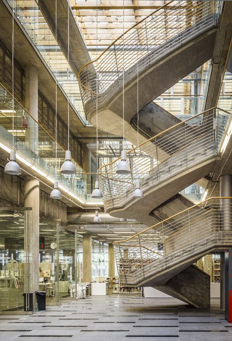 Katowice scientific information centre and academic library - staircase