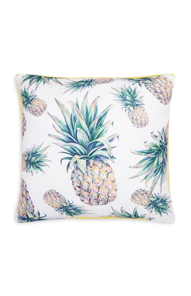 Pineapple Print Cushion