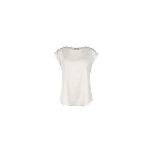 Lamberto Losani Silk T-Shirt ❤ liked on Polyvore featuring tops, t-shirts, silk top, silk t shirt, silk tee and lamberto losani