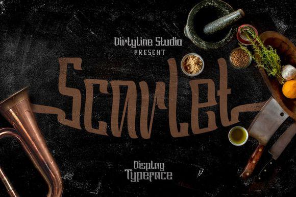 Scarlet - Display Typeface by Dirtyline Studio on Creative Market