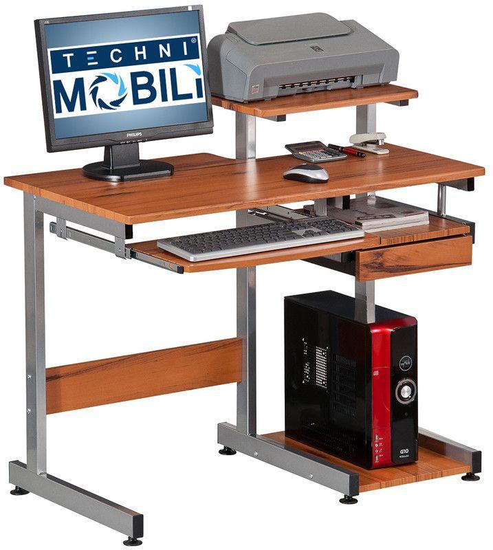 Techni Mobili RTA-2706A-WG01 Complete Computer Workstation Desk. Color: Woodgrain