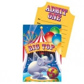 Circus Uitnodigingen - Sisters in Wonderland