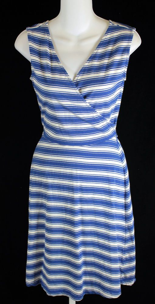 Talbots Blue and White Striped Sleeveless Dress Womens Petite Size P Small | Clothing, Shoes & Accessories, Women's Clothing, Dresses | eBay!