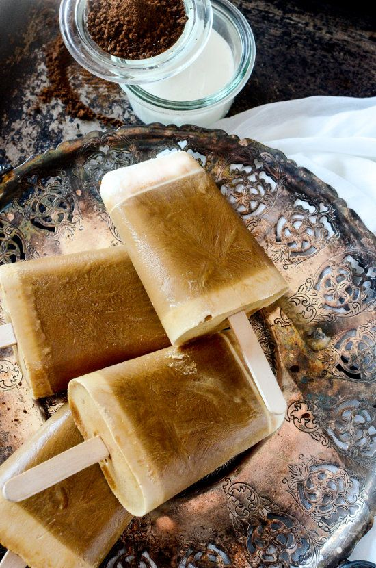Save your leftover coffee while saving money making your own, homemade version of iced latte popsicles! These look amazing and I love this approach to making these Cafe Latte Coffee Popsicles to ensure that they are delicious and creamy. I am going to be making these often and all year, but especially in the summer! I am always looking for coffee desserts and recipes using coffee and leftover coffee so that none of it goes to waste and find new ways to enjoy coffee!