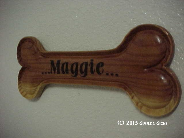 Doggie Bone with your pet's name on it.
