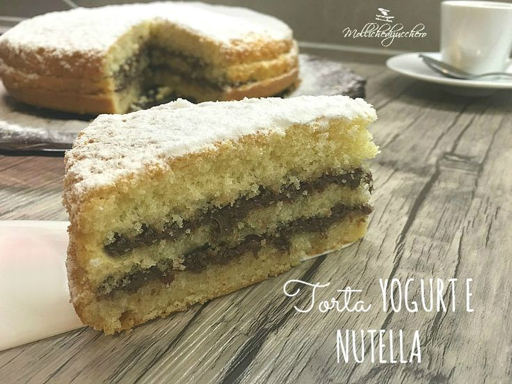 La torta yogurt e Nutella è una torta estremamente soffice e golosa, la base è di una classica torta da colazione alta e soffice, a base di yogurt...