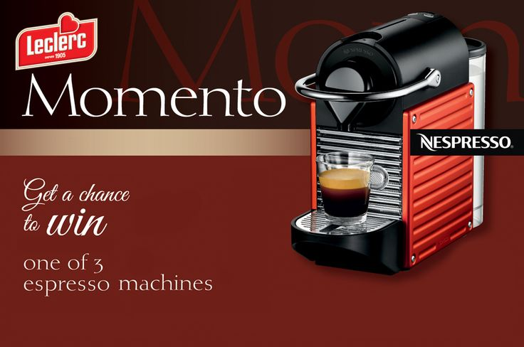 [CLOSED] Like our cookies and hot beverages pairings? Until April 30, enter our Momento contest to get a chance to win one of 3 Nespresso machines to make your very own hot beverages in the comfort of your home. One entry per UPC.