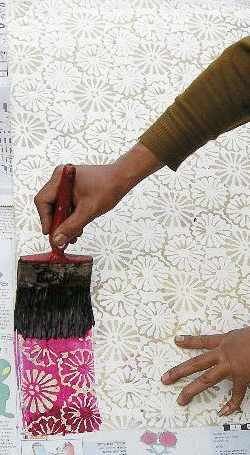 Batik Paper.. quite time consuming, but so effective!