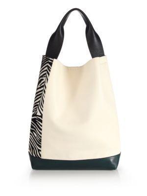 MARNI Leather & Zebra-Print Calf Hair Shoulder Bag. #marni #bags #shoulder bags … – Handbags Wholesale