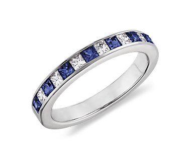 Sapphires, diamonds, princess cut, I love it!