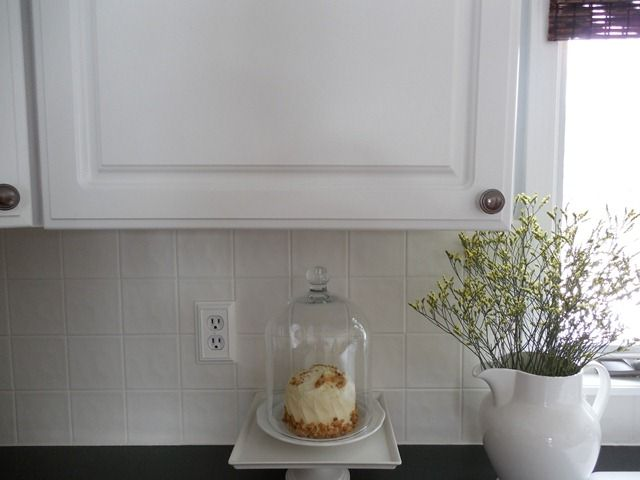 17 best images about home renos on pinterest window for Painting ceramic tile kitchen backsplash