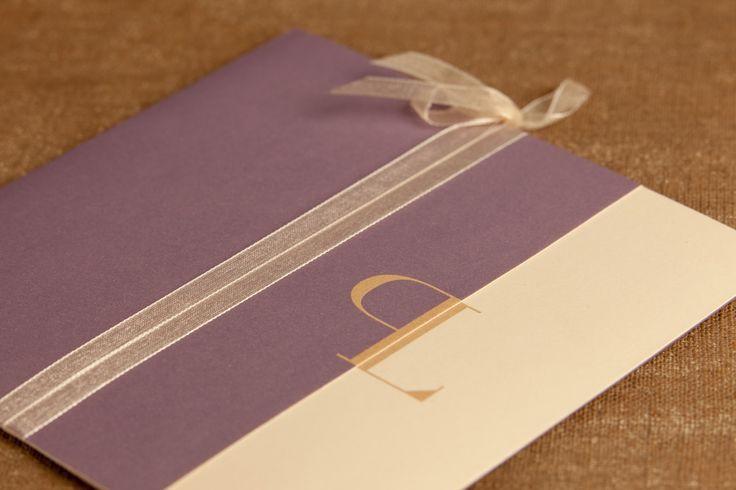 Svatební oznámení rozkládací se stužkou