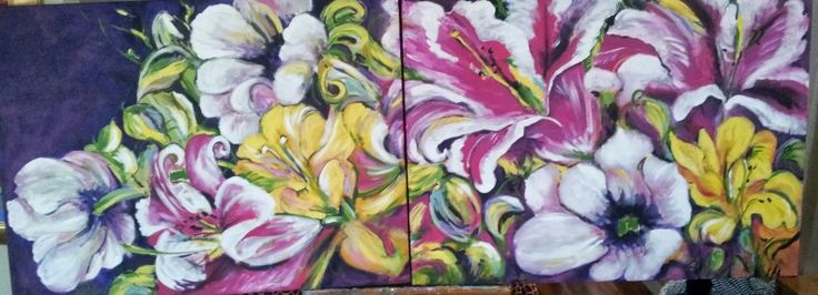 30x80.  Flowers for Mom