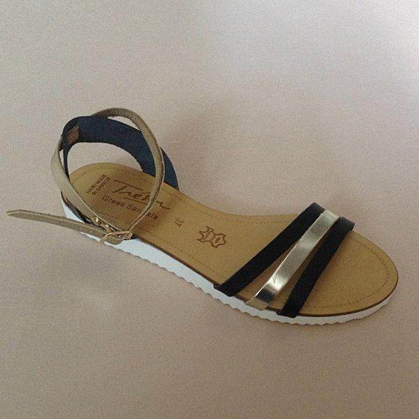 Greek Sandals (Δερμάτινα :: Πέδιλα, Σαγιονάρες, Παντόφλες) @ www.GreekShoes.Net > Κωδικός: 260.502 > Μεγέθη: Νο.35-Νο.41 (τιμή 30€) & Νο.42-Νο.45 (τιμή 40€) > Σόλα: Σφήνα ή Φλάτ | Λευκή ή Μπέζ > Χρώματα: Μαύρο-Χρυσό, Ταμπά-Χρυσό, Λευκό-Χρυσό
