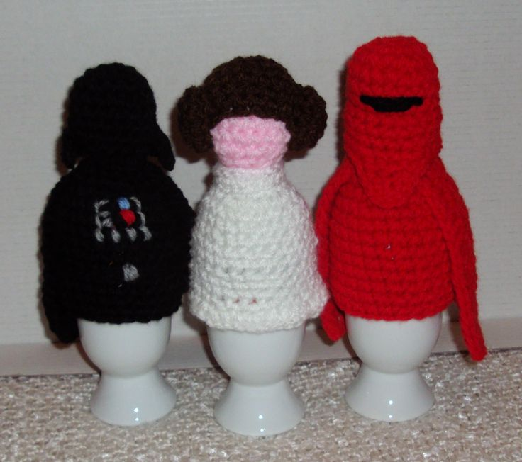 Egg Cosies from Star Wars (crochet)