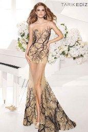 Платье длинное прозрачный низ