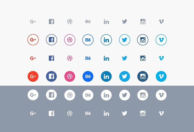 10+ Modern Free Flat Social Media Icon Sets For Your Website! #freebiesteam #free #download #webresources #website #media #icon #illustrator #personal
