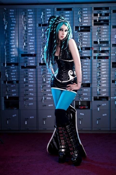 ((Like the hair..))future girl, cyberpunk girl, Cyber Goth, alternative girl, futuristic girl, future fashion, futuristic look, cyberpunk style, future style by FuturisticNews.com