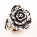 GAVAN RILEY - sterling silver Peony Ring