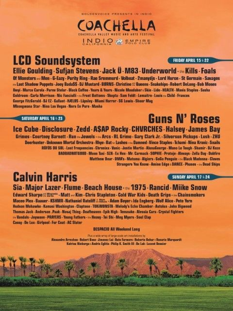 Coachella 2016 Lineup Revealed (News)                              The Coachella lineup was revealed this morning! It will be headlined by LCD Soundsystem, G...