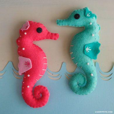 Felt Seahorse Stuffies