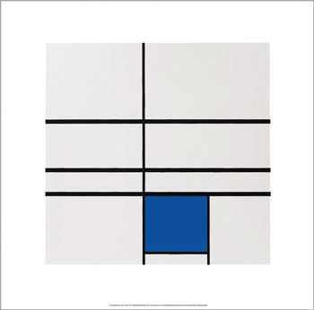 Piet Mondrian (1872 - 1944 . Amersfoort, The Netherlands) was a Dutch painter. He was an important contributor to the De Stijl art movement and group, which was founded by Theo van Doesburg. He evolved a non-representational form which he termed Neo-Plasticism. This consisted of white ground, upon which was painted a grid of vertical and horizontal black lines and the three primary colors.