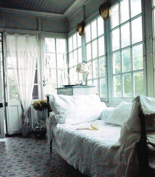 a sleeping porch