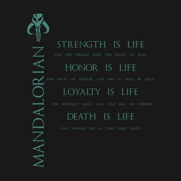 Awesome 'The+Mandalorian+Code' design on TeePublic!