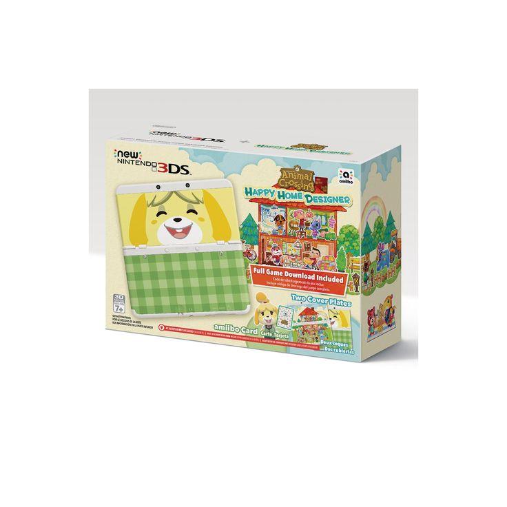 Nintendo 3DS Console + Animal Crossing Happy Home Designer Bundle, Black