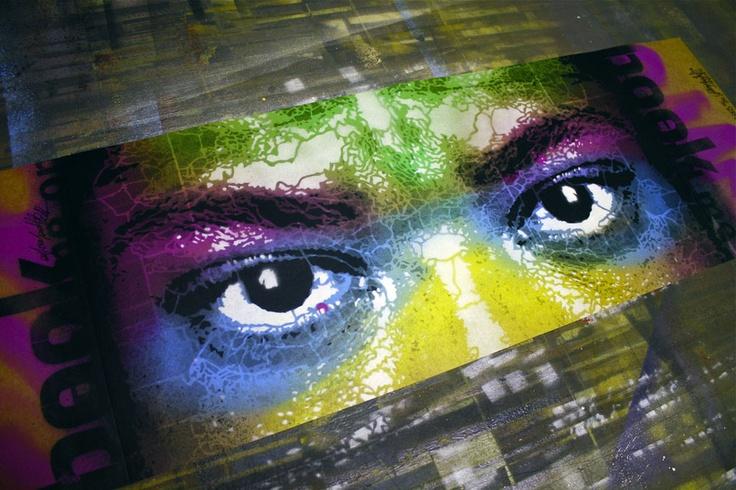 2012 | Stencil Republique, hand paint cover